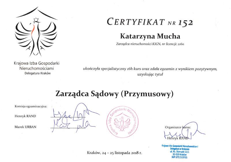 Certyfikat Zarządcy Przymusowego